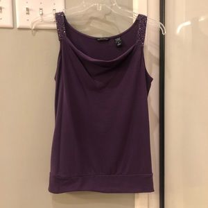 Purple top with beaded straps